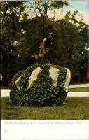 Cooperstown NY Indian Hunter Statue Cooper Park Postcard used 1900s/10s
