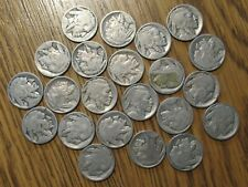 Lot of 22 Buffalo Nickels Unreadable Dates for Crafts Jewelry or Grandkids