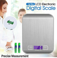 Food Electronic Digital Scale LCD Stainless Kitchen Cooking  Weight 5kg 1g