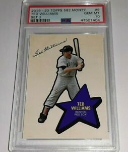 2019-20 Topps 582 Montgomery Set 2 #9 Ted Williams Card PSA 10 Gem Mint
