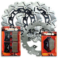 Yamaha Front + Rear Stainless Steel Brake Disc Rotor + Pads TDM 900 [2002-2014]