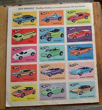 Hot Wheels Redlline Trading Card Set Uncut 1968 ULTRA RARE Cheetah Uncut N