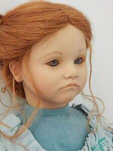 """KATHE Annette Himstedt 1987 Barefoot Children #3420 27"""" Vinyl Doll w/Human Hair"""