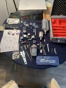 sata spray gun lot with case and accessories