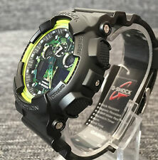 CASIO G SHOCK GA-100LY-1A BLACK GREEN CAMOUFLAGE XLARGE 200M WR BRAND NEW