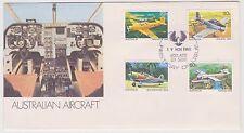 (ICF109) 1981 AU FDC 4set Australian aircraft (B)