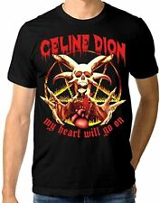 Celine Dion Death Metal T-Shirt, My Heart Will Go On Funny Tee