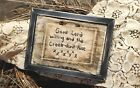 """Primitive Country Stitchery Home Decor 5x7 FRAMED """"Good Lord"""" Embroidery"""
