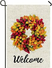 Mogarden Tulips Spring Garden Flag, 12.5 x 18 Inch,
