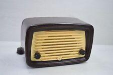 Vintage Collectible 1940s Small Brown Bakelite Tube Radio ELPROM Retro Deco Art
