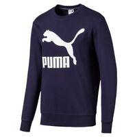 Puma Classics Logo Crew TR Felpa Uomo 595198 06 Peacoat