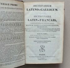 DICTIONNAIRE LATIN FRANCAIS - LE NORMANT - 1839 *