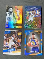 JORDAN BELL 2017-18 ROOKIE , WARRIORS 4 CARD PLAYER LOT ,PRESTIGE, ESSENTIALS