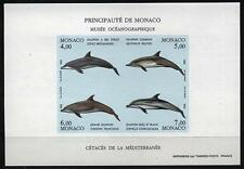 "MONACO BLOC FEUILLET 56a "" CETACES DAUPHINS ND 1992 "" NEUF xx LUXE ,VALEUR: 240€"
