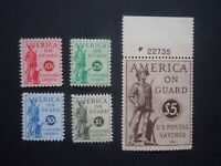 "1941 #PS11-PS 15 Postal Savings Stamps  MNH OG VF CV $95 ""Includes New Mounts"""