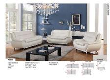 Beverly Furniture F4604 3 Piece Modern Sofa Set White