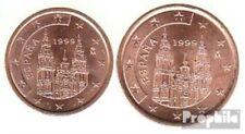 España e2 - 3 1999 flor de cuño 1999 moneda de curso legal 2 y 5 Cent
