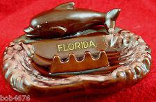 Vintage Florida Dolphin Ashtray Travel Souvenir Pottery Ceramic porpoise Japan