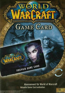 WoW / World of Warcraft 60 Tage Spielzeit Guthaben / Gametime / Game Card