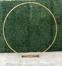 Shiny metal Flower Ring 60cm Diameter For Table Centerpiece