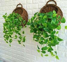 Wicker Rattan Flower Basket Plant Pot Holder Home Wall Hanging Garden Decor New