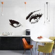 Women Beauty Eyes Window Wall Room Sticker Decal Removable  Sticker Decor Newest