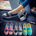 Casual Women Low Top Canvas Shoes Sneakers Breathable Rubber Flats Running Shoes