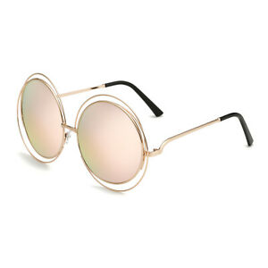 Große Runde Sonnenbrille   Retro-Design   Gemischte Farbe