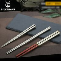 EDC Pure Titanium Mahogany Unfolding Storage Portable Chopsticks Camping Outdoor