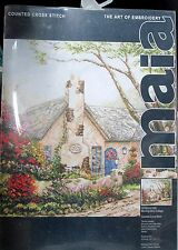MAIA - MORNING GLORY COTTAGE - Thomas Kinkade Counted Cross Stitch KIT