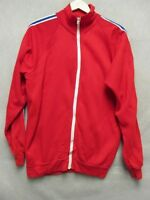 V5214 Sears Kings Road Red w/White Stripes Acrylic Zip Up Track Jacket Men's XL