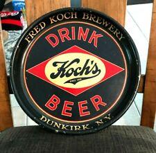 "Hard To Find Pie Pan 13"" Version Koch'S Beer Metal Tray Koch Brg Dunkirk Ny 30'S"