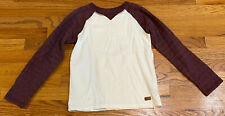 seven for all mankind Boys M Designer Knit Long Sleeve White With Maroon Sleeves