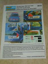 """Décals 1/43e Citroën Saxo """"Kit Car"""" Le Ferrand Rallycross Essay sur Orne 2010"""