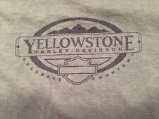VINTAGE LADIES HARLEY-DAVIDSON YELLOWSTONE - BELGRANDE, MONTANA T SHIRT SMALL