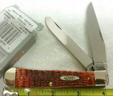 Case XX 6254 Trapper knife, 2016, jigged Chestnut bone handles, #08161 NIB