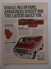 1978 Print Ad Dodge Street Van Automobile ~ The Latest Adult Toy