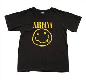 Original Vintage 1992 Nirvana Smiley Face Cobain Band T Shirt Anvil S/M *VGC*