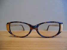 Vintage Omega Gold, Brown, Green & Purple Oval Eye Glasses 241/3 52 18