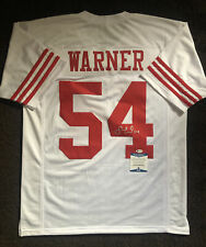 Fred Warner Signed Autographed San Francisco 49ers Jersey BECKETT BAS COA 20