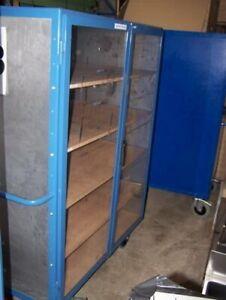 Kastenwagen Rollschrank Etagenwagen Kommissionierwagen mit 2 Türen 1800x830x1250