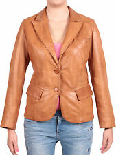 Women Leather Coat     Ladies Brown Leather Blazer Coat       Leather coat.