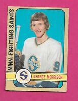 1972-73 OPC WHA # 314 SAINTS GEORGE MORRISON  HIGH # VG CARD (INV# D0806)