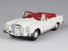 Maisto 31811 Model Car MERCEDES 280se Cabrio 66 Scale 1 18 Assorted Colours