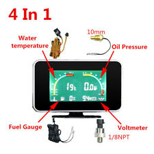 4 in 1 LCD Digital Display Auto Car Voltmeter/Water Temp/Oil Pressure/Fuel Gauge