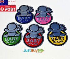1 PCS Baby In Car / On Board Red Blue Pink Yellow Green Sticker Decal Newborn