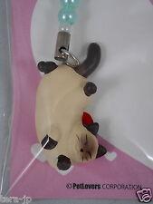 PetLovers Lying Cat (Siamese) Figurine Phone Strap Japan