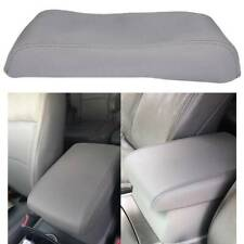 Fits 2008-2013 Toyota Highlander Leather Center Console Lid Armrest Cover Gray