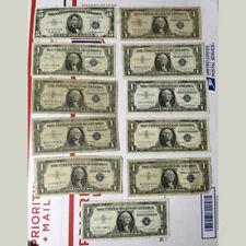 US Silver Certificates 1 1953 Five dollar & 10 series 1957 one dollar STAR BILL