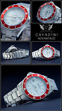 Advantage Cavadini Diver's Automatic Watch 30 Bar Solid Steel New Series NEW
